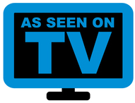 tv as seen on tv blue-and-black